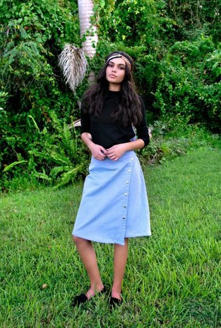 Deela Chambray Skirt