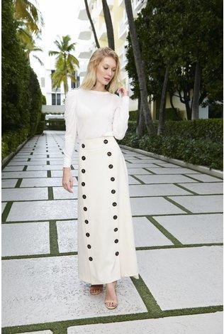 Pashmina Pashmina Button Maxi Skirt