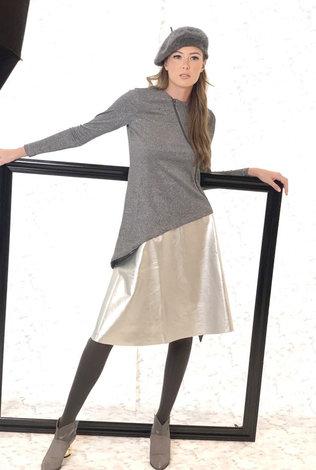 BYRD Metallic Angled Sweater