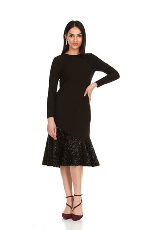 Bella Donna Fit and Flair Sequin Dress