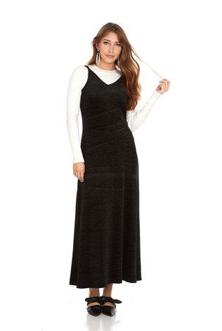 Bella Donna Velvet Slip Dress Maxi