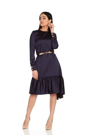 Bella Donna Eva Ruffle Dress Midnight Blue