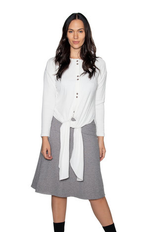 Ricciel Ribbed Tie Top White