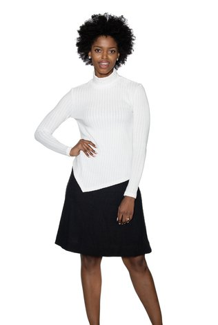 Ricciel Ricciel Asymmetrical Sweater White