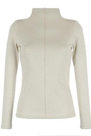 parni Lurex Turtleneck Ivory/Gold