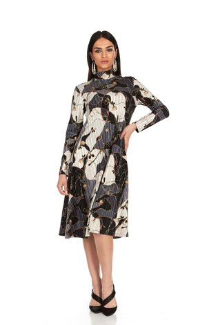 Bella Donna Chain Print Velvet Dress