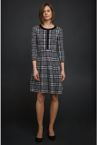Apparalel Plaid Sweater Dress