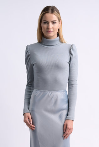 bliss Bliss Ribbed Turtleneck Slate Blue