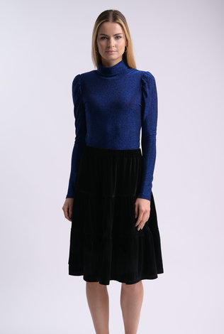 bliss Bliss Lurex Turtleneck Cobalt