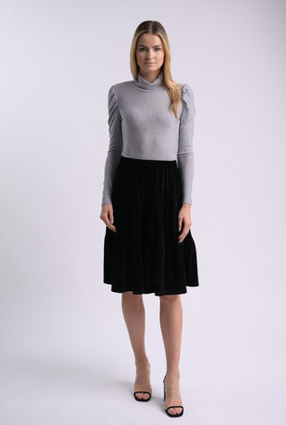 bliss Bliss Lurex Turtleneck Silver