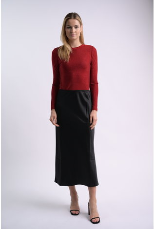 bliss Bliss Lurex Crew Red