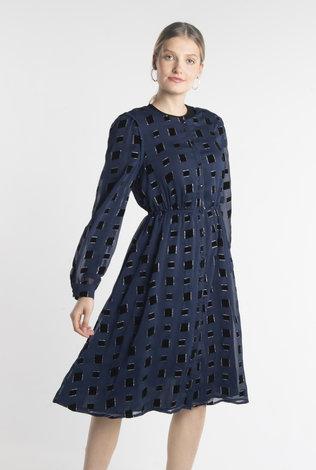 Deela Blue Square Dress