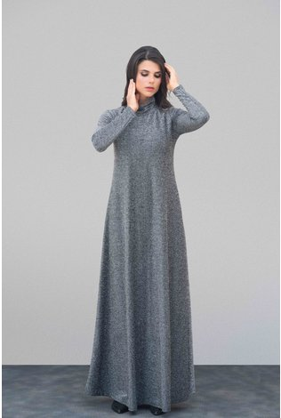 Go Couture Lurex Turtleneck Maxi