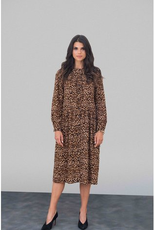 Go Couture Leopard Crepe Dress