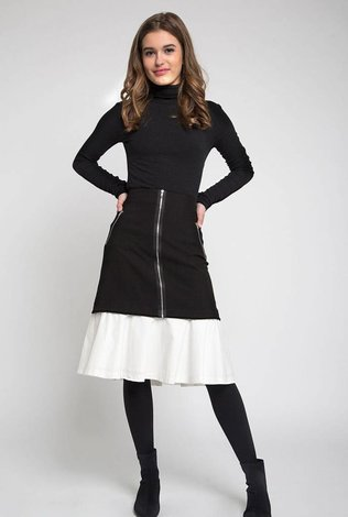 Maple and Cliff Zipper Ruffle Skirt - 70% OFF!