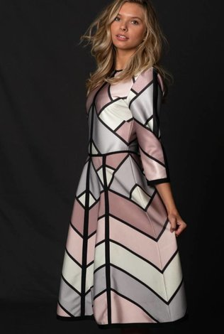 Front Row Couture Geometric Dress - 70% OFF!