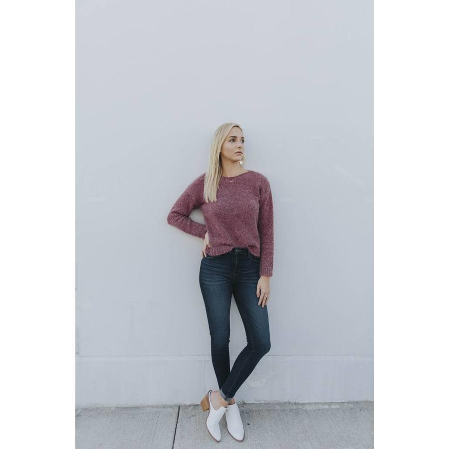 AVA FUZZY KNIT SWEATER