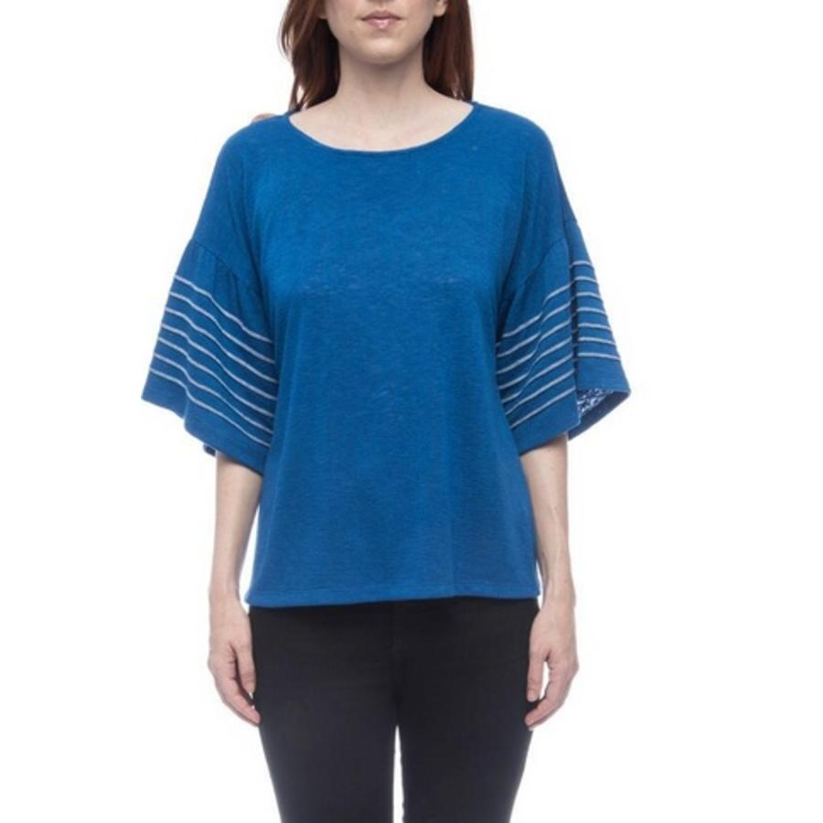 EVERLEIGH STITCHED STRIPE SLEEVE TEE
