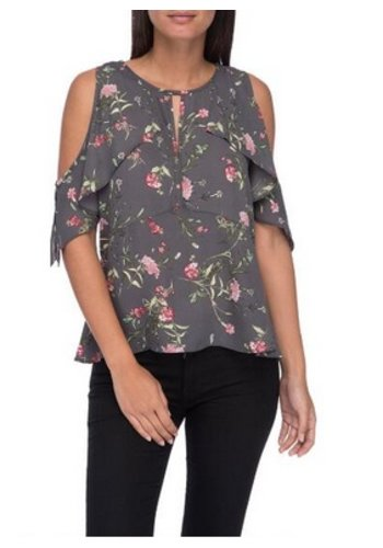 PAMELA COLD SHOULDER FRILL BLOUSE