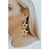 LISI LERCH STELLA BRUSHED GOLD STAR EARRINGS
