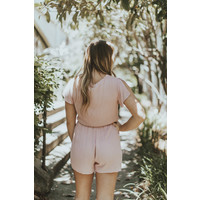 S/S ROMPER W/ KNOT FRONT