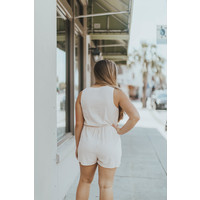 KNOT FRONT SLVLESS ROMPER