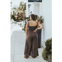STRAPPY SMOCKED TOP JUMPSUIT
