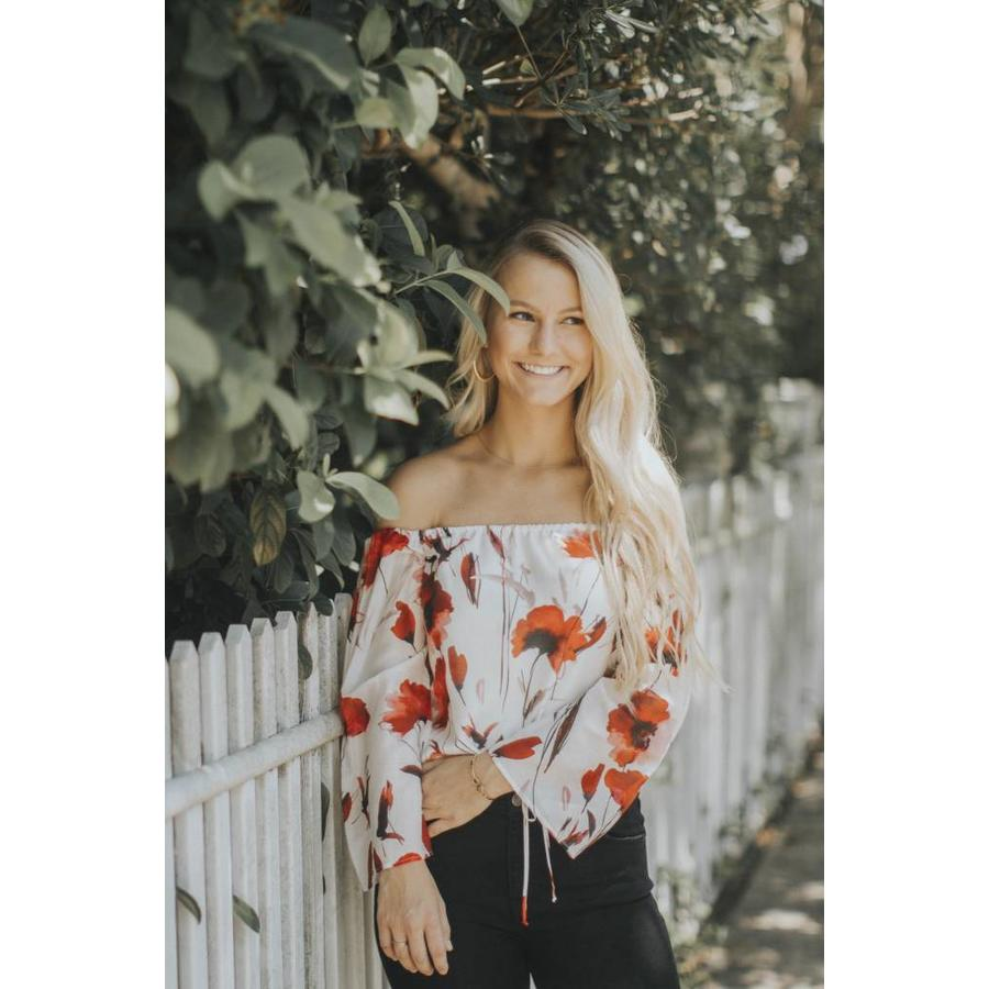 Ivory and Red Top