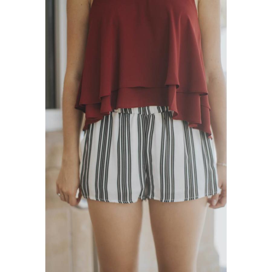 Ivory and Black Shorts