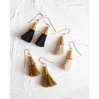 Hebba Cone Tassel Earrings