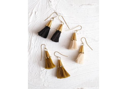 Hebba Cone Tassel Earrings