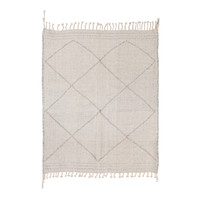 Zanafi Kilim Rug - light grey