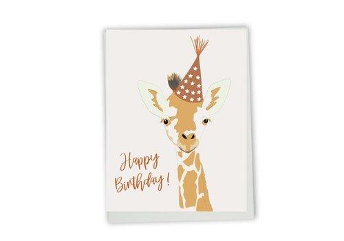 Carte Happy birthday giraffe