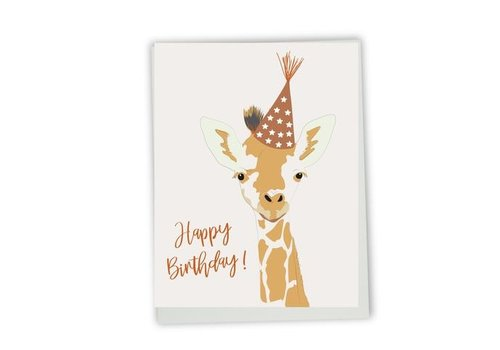 Happy birthday giraffe Card