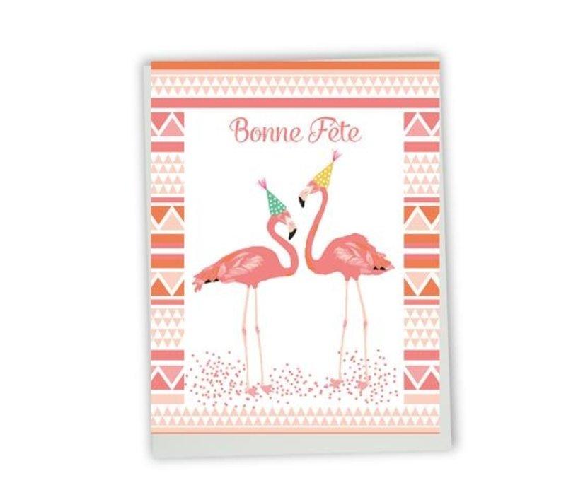 GC Happy birthday flamingo