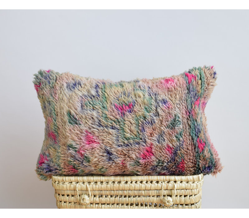 Vintage Rug Pillow mauve 2