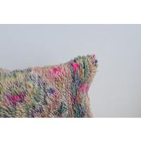 Coussin tapis vintage mauve 2