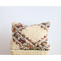 Coussin tapis vintage orange A