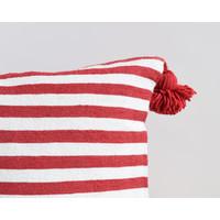 Pompom pillow 45cm rouge