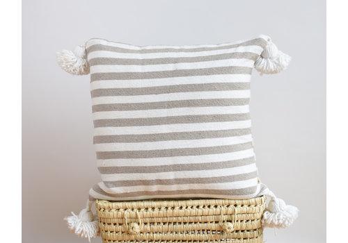 Pompom Pillow 45cm beige