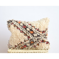 Coussin tapis vintage orange B