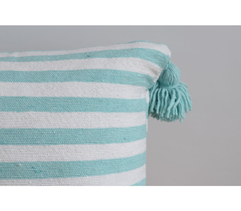 Pompom Pillow 45cm turquoise