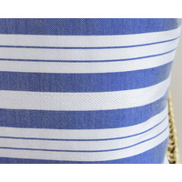 Coussin sabra blanc bleu chevron