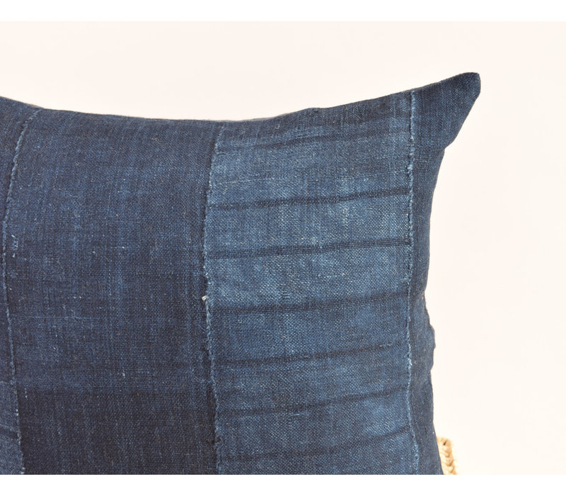 Mudcloth Pillow indigo PM