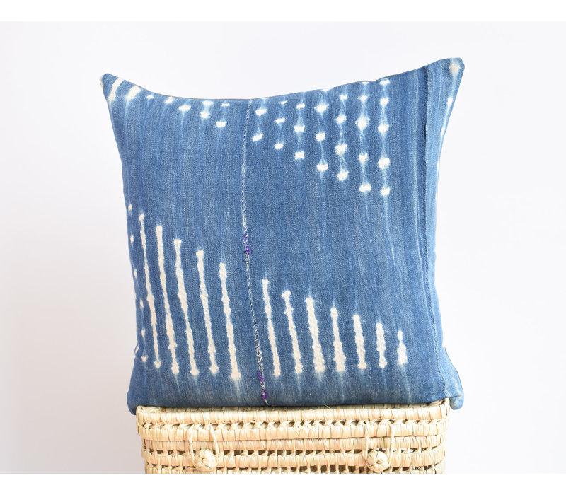 Mudcloth Pillow Indigo Purple