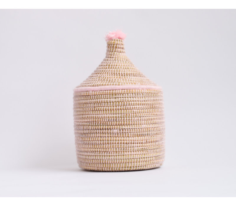 Berber Basket M - baby pink