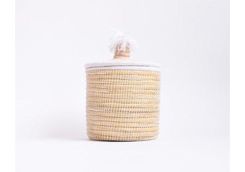Panier Berbère M - blanc