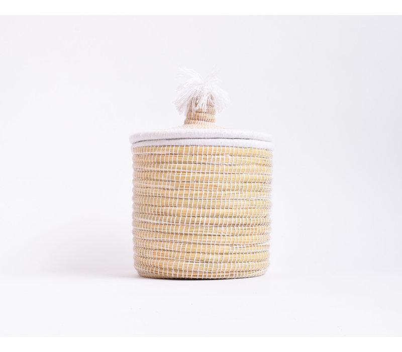 Berber Basket M - white flat A