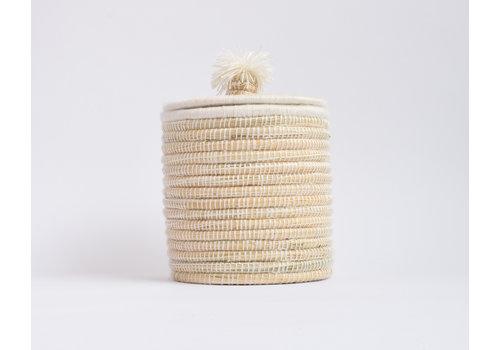 Berber Basket M- flat cream