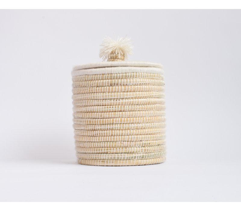 Berber Basket M - flat cream